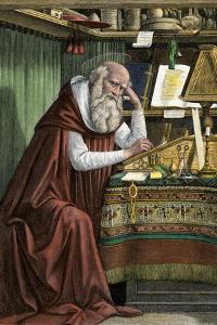 Saint Jerome Translating the Bible into Latin, known as the Vulgate