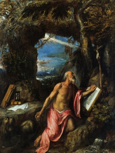 Saint Jerome-Titian (Tiziano Vecelli)-Giclee Print