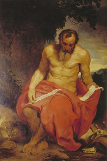 Saint Jerome-Sir Anthony Van Dyck-Giclee Print