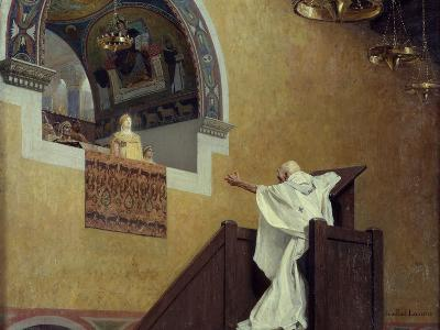 Saint John Chrysostom Confronting the Empress Eudoxia by Jean Paul Laurens--Photographic Print
