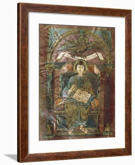 Saint John, from the Gospel of Saint Riquier, or the Gospel of Charlemagne--Framed Giclee Print