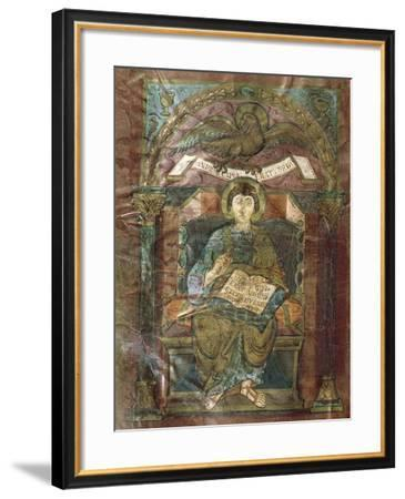 Saint John, from the Gospel of Saint Riquier, or the Gospel of Charlemagne--Framed Giclee Print