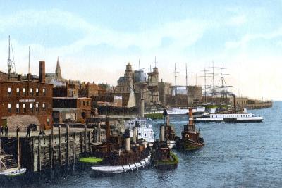 Saint John Harbour, Saint John, New Brunswick, Canada, C1900s--Giclee Print