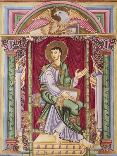 Saint John, Miniature from the Caesareus Upsaliensis Code, 1045, Manuscript--Giclee Print