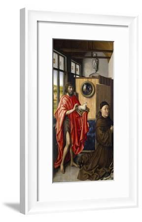 Saint John the Baptist and the Franciscan Heinrich Von Werl, 1437-Robert Campin-Framed Giclee Print