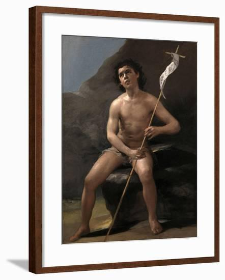 Saint John the Baptist as a Child in the Desert, Ca. 1810-Suzanne Valadon-Framed Giclee Print