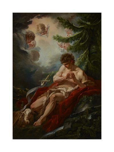 Saint John the Baptist, C.1755-Francois Boucher-Giclee Print