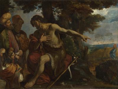 Saint John the Baptist Preaching in the Wilderness, C. 1640-Pier Francesco Mola-Giclee Print