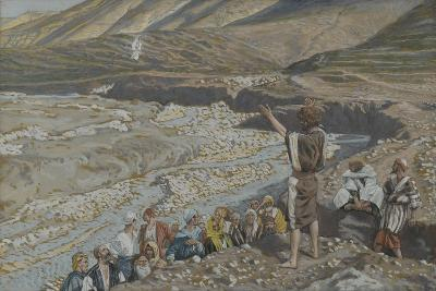 Saint John the Baptist Sees Jesus from Afar from 'The Life of Our Lord Jesus Christ'-James Jacques Joseph Tissot-Giclee Print