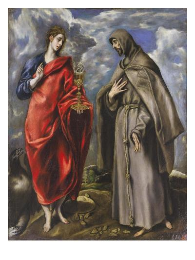 Saint John the Evangelist and Saint Francis-El Greco-Giclee Print