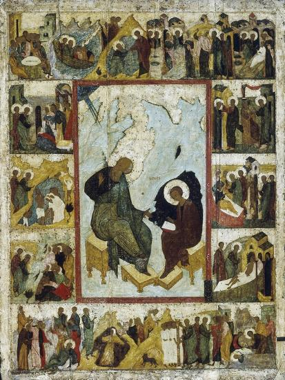 Saint John The Evangelist On Patmos With Scenes From His Life Early