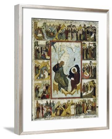 Saint John the Evangelist on Patmos with Scenes from His Life, Early 16th Century--Framed Giclee Print