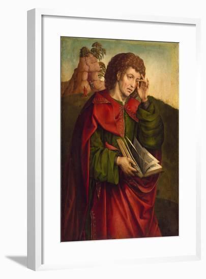 Saint John the Evangelist Weeping, C. 1500-Colijn de Coter-Framed Giclee Print