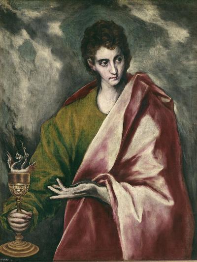 Saint John the Evangelist-El Greco-Art Print