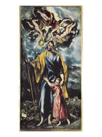 Saint Joseph and Child Jesus-El Greco-Art Print