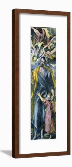 Saint Joseph and the Infant Jesus-El Greco-Framed Giclee Print