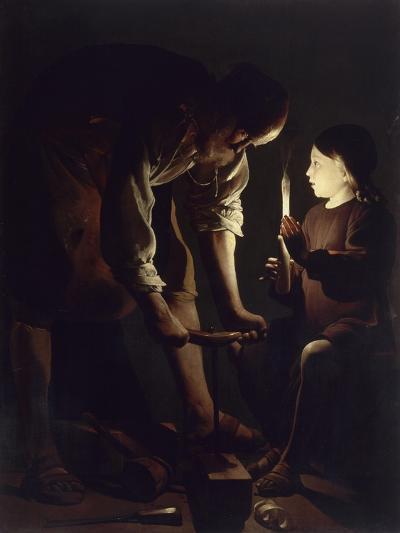 Saint Joseph charpentier-Maurice Quentin de La Tour-Giclee Print