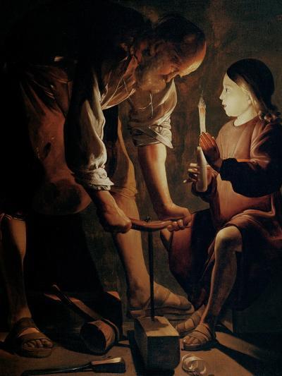 Saint Joseph, the Carpenter-Georges de La Tour-Giclee Print