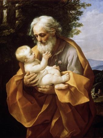 Saint Joseph with Infant Christ, 1620S-Guido Reni-Giclee Print