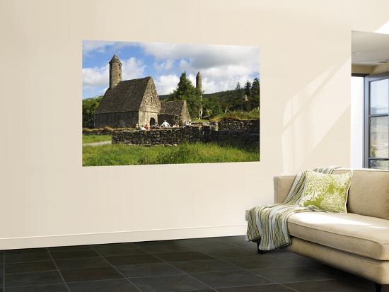 Saint Kevin's Church at Monastic Site-Stephen Saks-Wall Mural