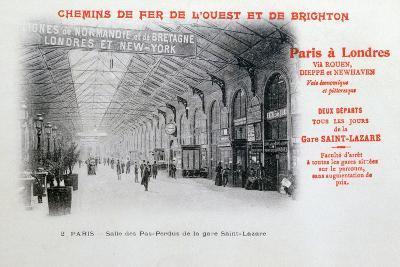Saint-Lazare Station, Paris, C1900--Giclee Print