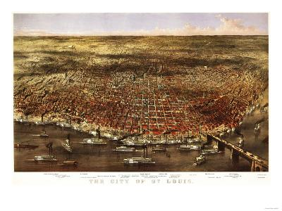 Saint Louis, Missouri - Panoramic Map-Lantern Press-Art Print