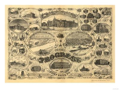 Saint Louis, Missouri - Panoramic Map-Lantern Press-Art Print