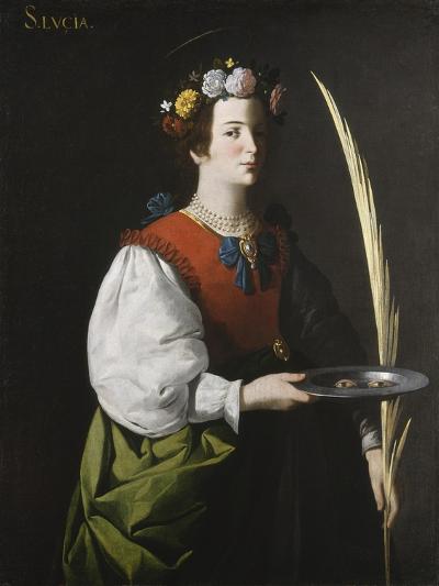 Saint Lucy, C.1625-1630-Francisco de Zurbar?n-Giclee Print
