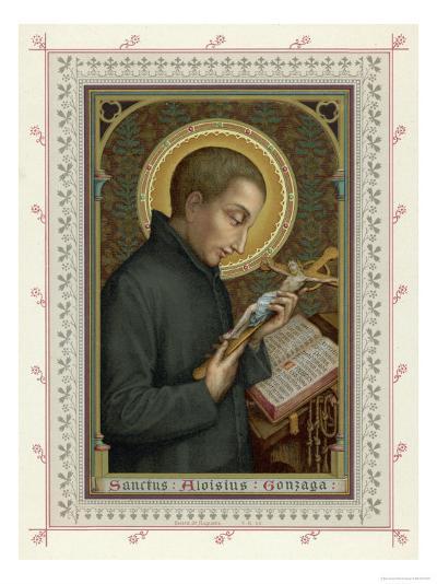 Saint Luigi di Gonzaga Italian Jesuit Noted for His Austerities--Giclee Print