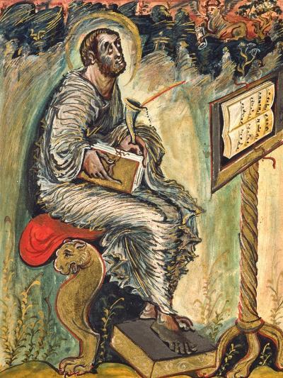 Saint Luke, Miniature from the Ebbo Gospels--Giclee Print