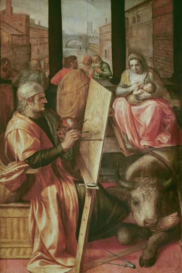 Saint Luke Painting the Virgin Mary-Frans Floris-Giclee Print
