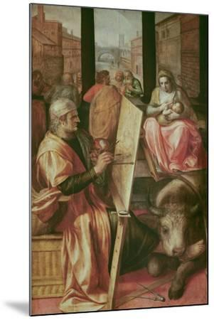 Saint Luke Painting the Virgin Mary-Frans Floris-Mounted Giclee Print