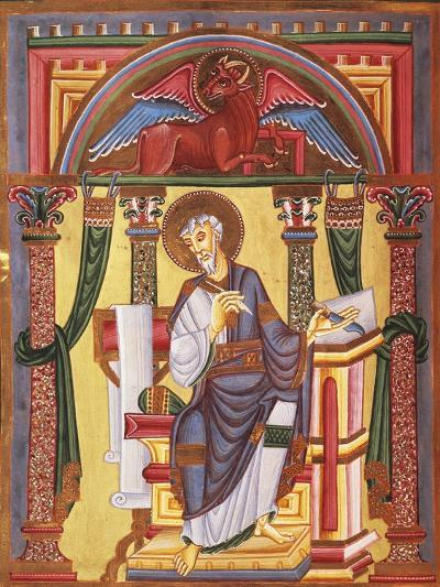 Saint Luke the Evangelist, Miniature 1045 from Caesareus Upsaliensis Code, Latin Manuscript--Giclee Print