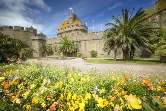 Saint Malo Castle In Bretagne-Philippe Manguin-Photographic Print