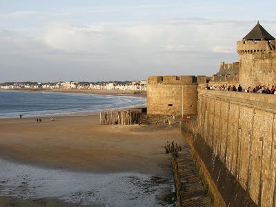 Saint-Malo City Wall, St. Malo, Ille-Et-Vilaine, Brittany, France, Europe-Godong-Photographic Print