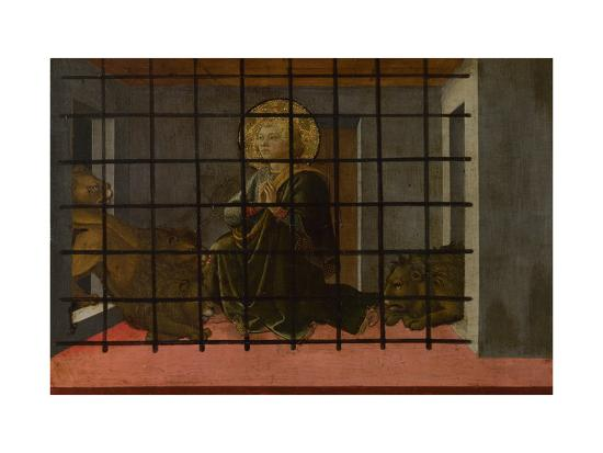 Saint Mamas in Prison Thrown to the Lions, 1455-1460-Fra Filippo Lippi-Giclee Print