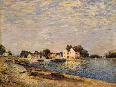 Saint-Mammes, on the Banks of the Loing; Saint-Mammes, Les Bord Du Loing, 1884-Alfred Sisley-Giclee Print