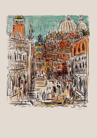 Saint Marc à Venise-Andr? Cottavoz-Premium Edition