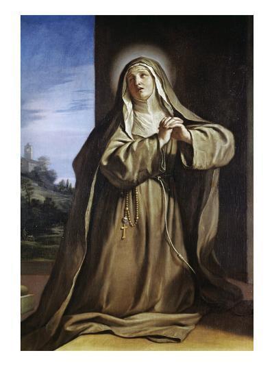 Saint Margarita Da Cortona-Guercino (Giovanni Francesco Barbieri)-Giclee Print