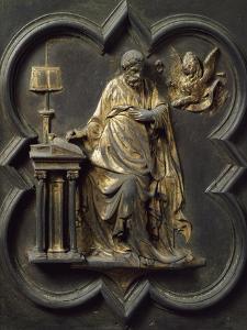 Saint Mark Evangelist, Bronze Panel