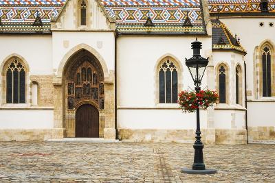 Saint Mark's Church in Old Town Gradec, Zagreb, Croatia-Russ Bishop-Photographic Print