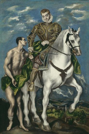 Saint Martin and the Beggar, 1597-1600-El Greco-Giclee Print