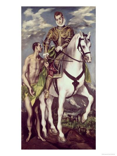 Saint Martin and the Beggar-El Greco-Giclee Print