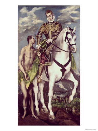 Saint Martin and the Beggar-El Greco-Giclee Print