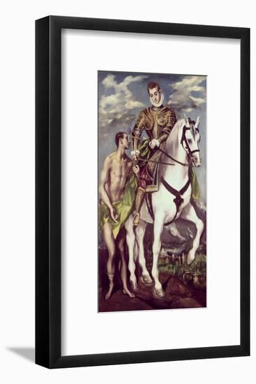 Saint Martin and the Beggar-El Greco-Framed Giclee Print