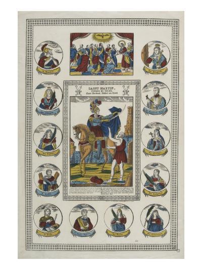 Saint Martin, évêque de Tours--Giclee Print