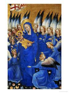 Saint Mary and the Choir of Angels, from the Wilton Diptych