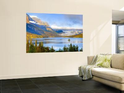Saint Mary Lake and Wild Goose Island, Glacier National Park, Montana, USA-Jamie & Judy Wild-Wall Mural