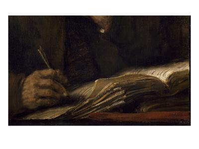 Saint Mathieu et l'Ange-Rembrandt van Rijn-Giclee Print