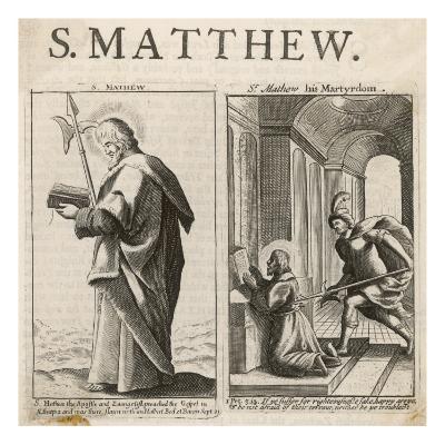 Saint Matthew the Evangelist the Martyrdom of St Matthew--Giclee Print